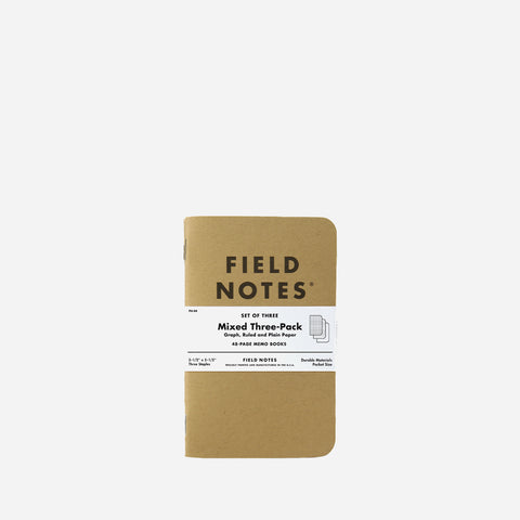 Field Notes Original Kraft Mixed pack front view