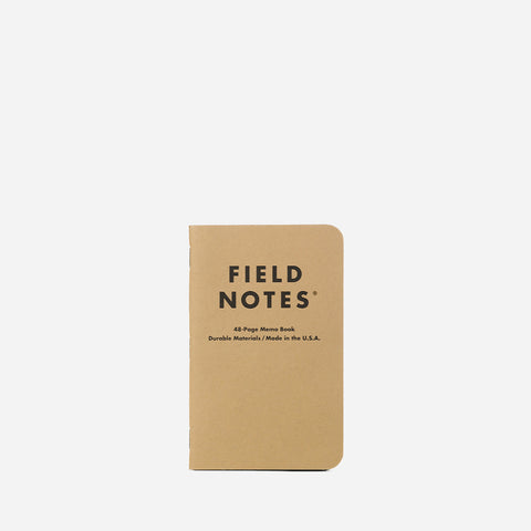 Field Notes Original Kraft Graph Pack front view