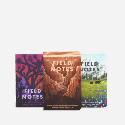 Field Notes National Parks B pack view