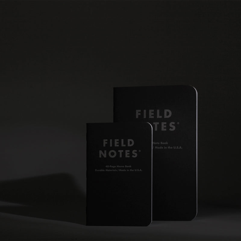 Field Notes Note Book Pitch Black Ruled into dark