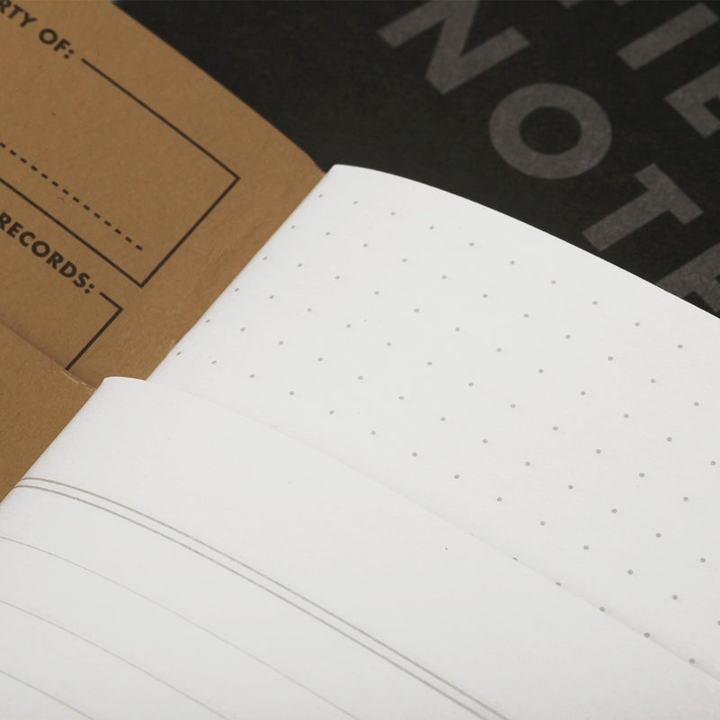 Field Notes Note Book Pitch Black Ruled paper view