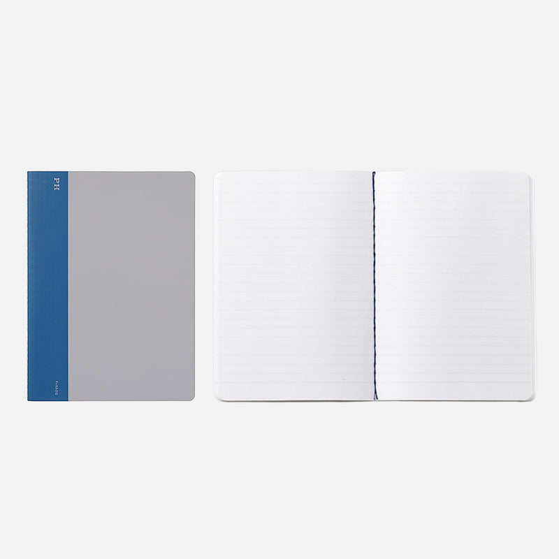 Hightide Cheesecloth Notebook Blue open