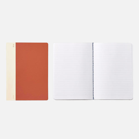 Hightide Cheesecloth Notebook Red front view