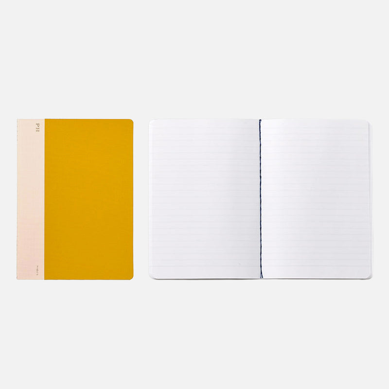 Hightide Cheesecloth Notebook Yellow open