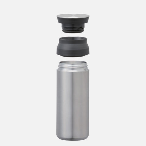 Kinto Travel Tumbler 500ml Steel front view