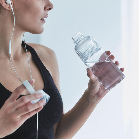 Kinto Workout Bottle Clear front view