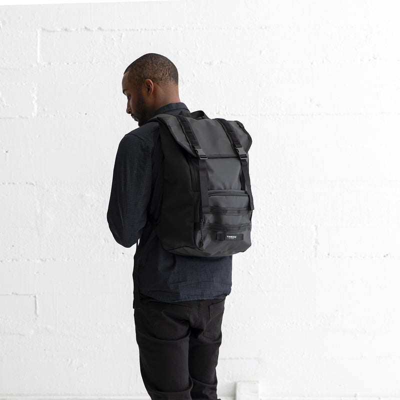 Timbuk2 Rogue Laptop Backpack 2.0 Black on male model