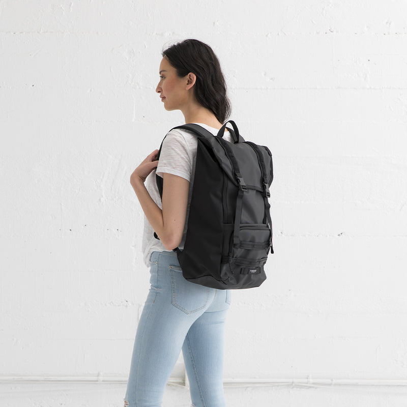Timbuk2 Rogue Laptop Backpack 2.0 Black on female model