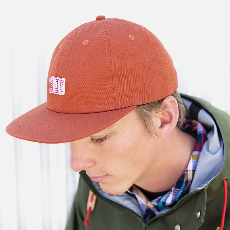 Topo Designs Mini Map Hat Clay on man