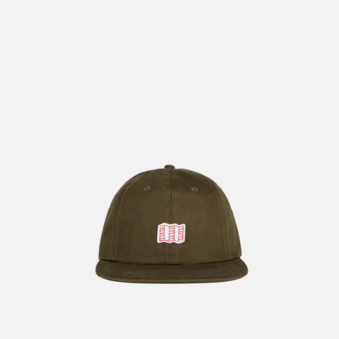 Topo Designs Mini Map Hat Olive front view