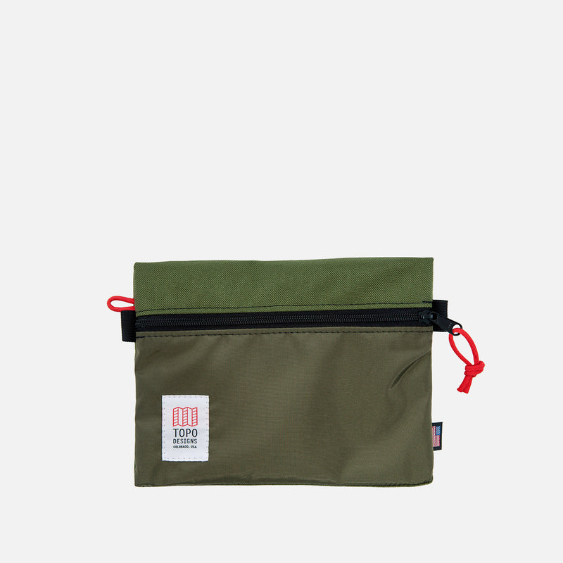 Topo Designs Accessory Bag M Olive front view