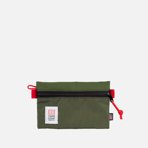 Topo Designs Accessory Bag S Olive front view