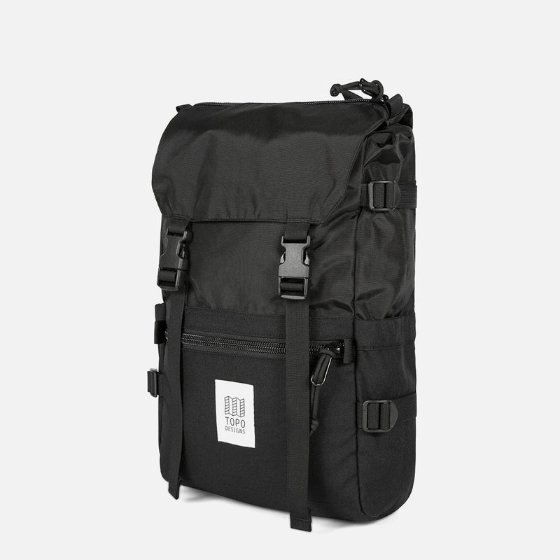 Topo Designs Rover Pack Black diagonal view
