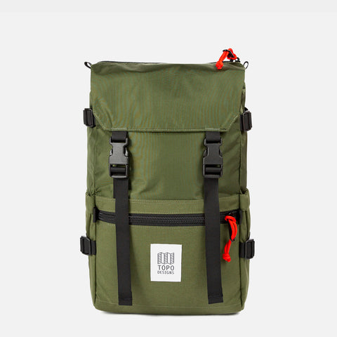 Topo Designs Rover Pack Olive diagonal view