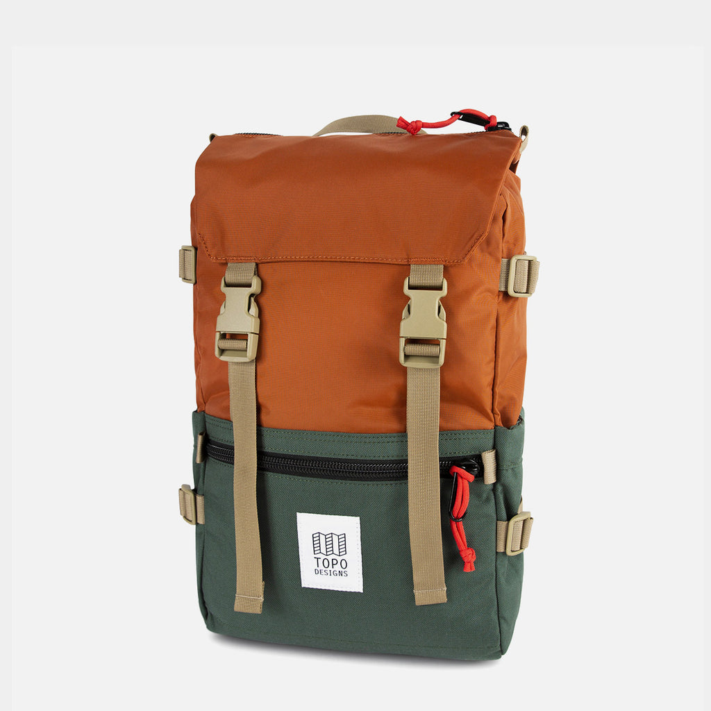 Topo Designs Rover Pack Clay/Forest diagonal view