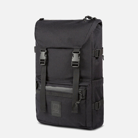 Topo Designs Rover Pack Tech Black front view