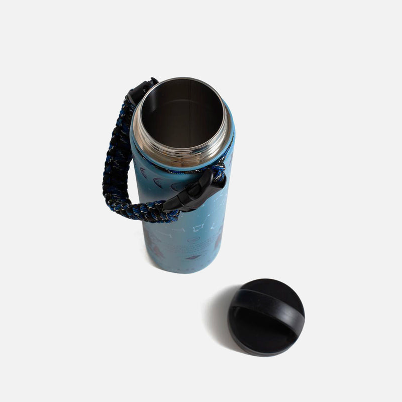United By Blue Insulated Steel Bottle Stargazer opened view