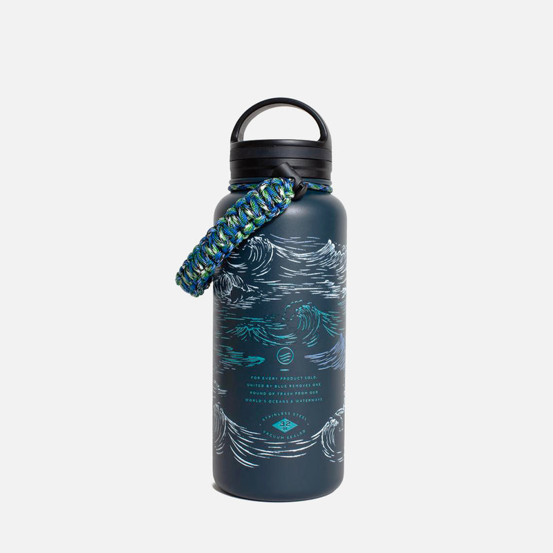 United By Blue Insulated Steel Bottle Waves front view