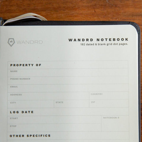 Wandrd Notebook Yellow front