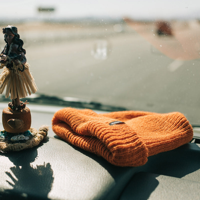 Wandrd Roadside Watch Cap Burnt Orange car