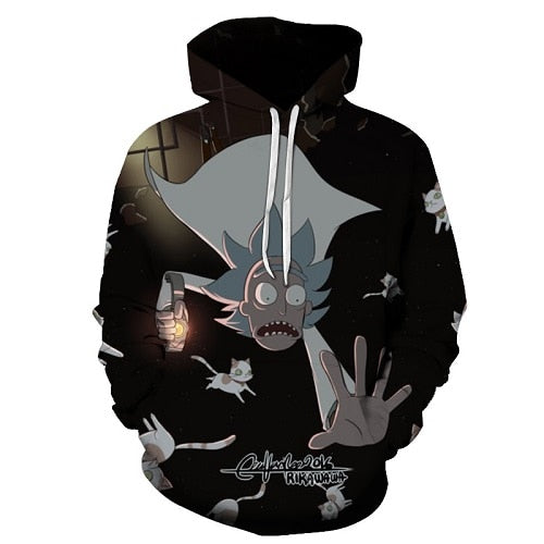Rick Morty Crazy Scientist Winter Hoodie Sweatshirt