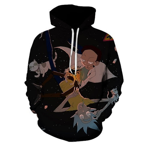 Image of Rick Morty Crazy Scientist Winter Hoodie Sweatshirt