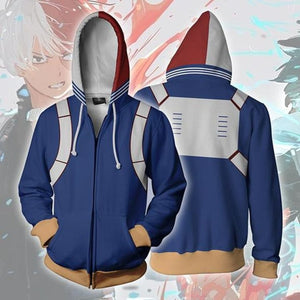 My Hero Academia Cosplay Zipper Hoodie Sweatshirt FSM 0888 | FullStylishMall