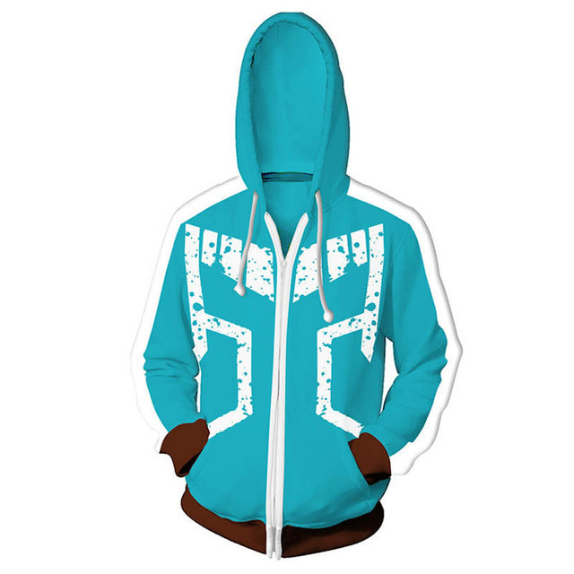 My Hero Academia Cosplay Zipper Hoodie Sweatshirt FSM 0886 | FullStylishMall