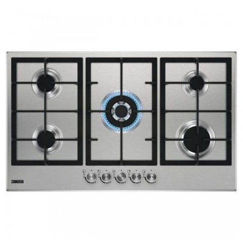 90 cm. 5 KNOBS GAS BUILT IN HOB ZGH96524XS + Free 500 EGP Voucher