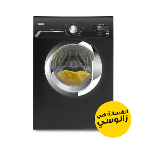 7 KG BLACK INVERTER V-STEAM AUTOMATIC WASHING MACHINE ZWF7241BXV