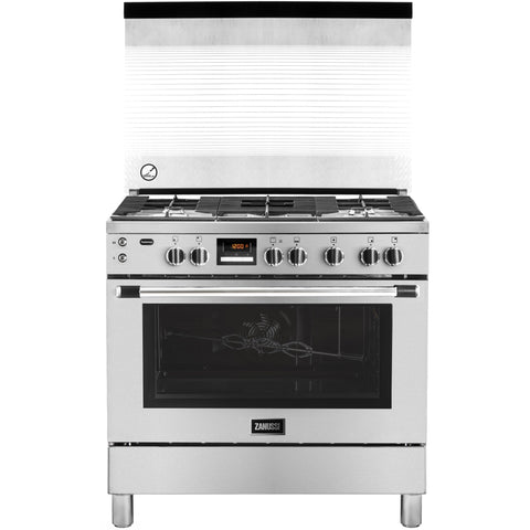 TasteMax 90 cm. 5 Burners free standing cooker with Glass led ZCG92386XA