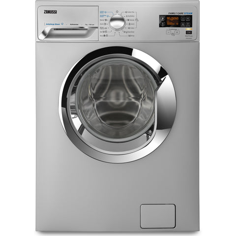 7 KG SILVER FRONT LOADER STEAM AUTOMATIC WASHING MACHINE ZWF7040SXV