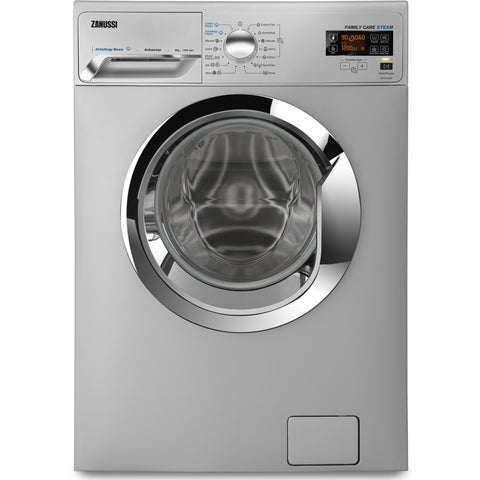 8 KG SILVER FRONT LOADER V-STEAM AUTOMATIC WASHING MACHINE