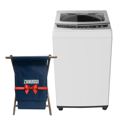 10 K. TOP LOADER AUTOMATIC WASHING MACHINE WHITE ZWT10710W + Free Laundry Basket
