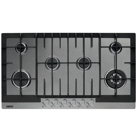 90 cm. 6 KNOBS GAS BUILT IN HOB ZGG96624XA + Free 500 EGP Voucher
