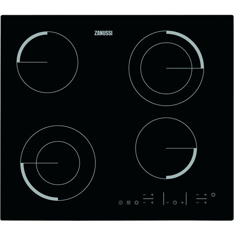 60 cm. CERAMIC ELECTRIC BUILT IN HOB ZEV6642FBV + Free 500 EGP Voucher