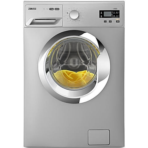 7 KG SILVER FRONT LOADER AUTOMATIC WASHING MACHINE ZWF71241SX + FREE ZANUSSI ELECTRIC WATER HEATER 30 L.
