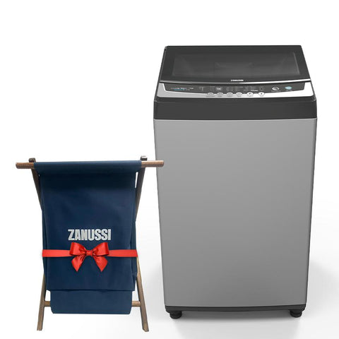 12 K. TOP LOADER AUTOMATIC WASHING MACHINE SILVER ZWT12710S + Free Laundry Basket