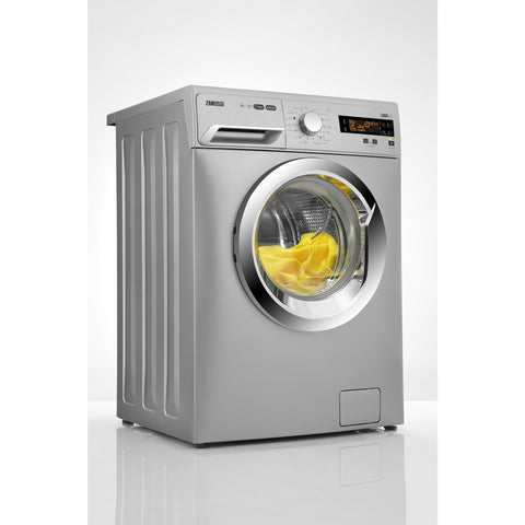 8 KG SILVER FRONT LOADER AUTOMATIC WASHING MACHINE ZWF81251SX + Free Cover + Free 3 Automatic Gel Detergent