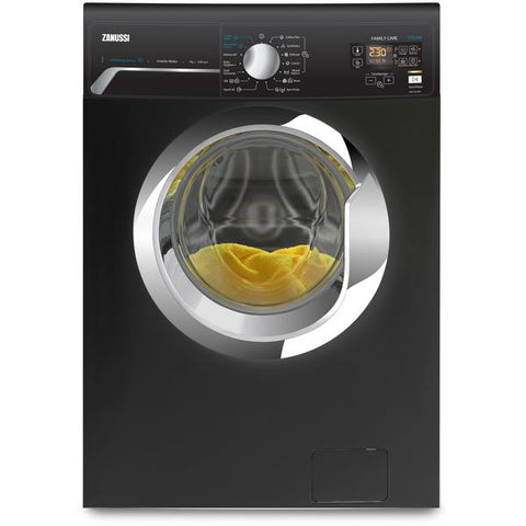 7 KG BlACK FRONT LOADER AUTOMATIC WASHING MACHINE ZWF7240BXV