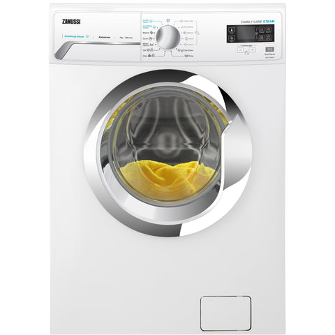 8 KG WHITE FRONT LOADER V-STEAM AUTOMATIC WASHING MACHINE