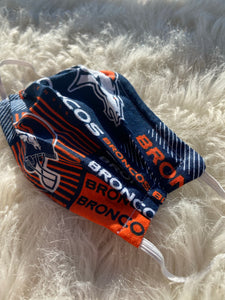 Broncos Print Face Mask