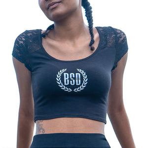 BSD lace crop top