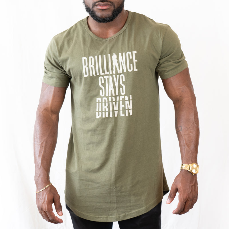 Brilliance Stays Driven longline tee
