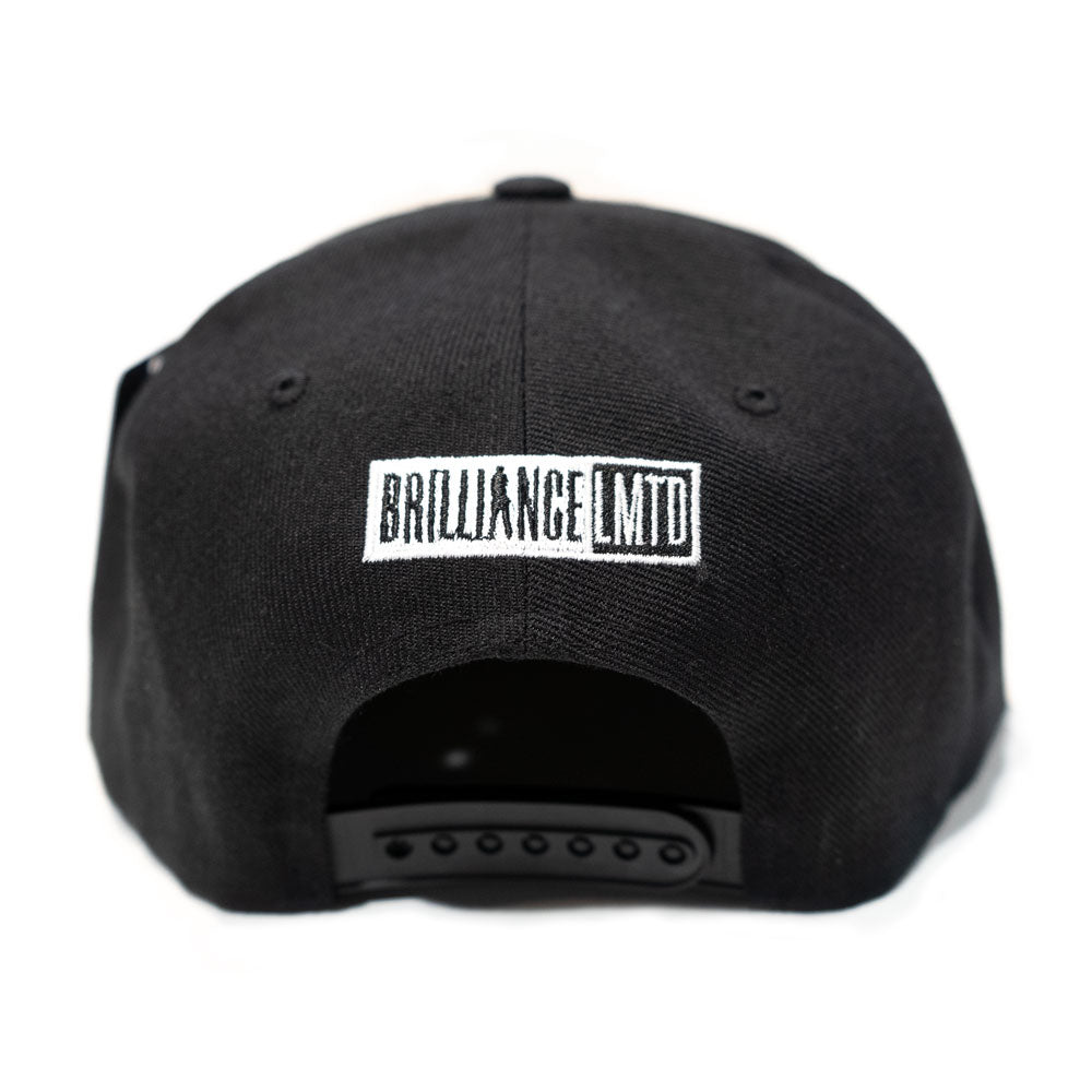 Black Brilliance Snapback (Flat embroidery)