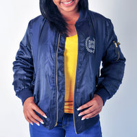 Blue Damn Bomber Jacket