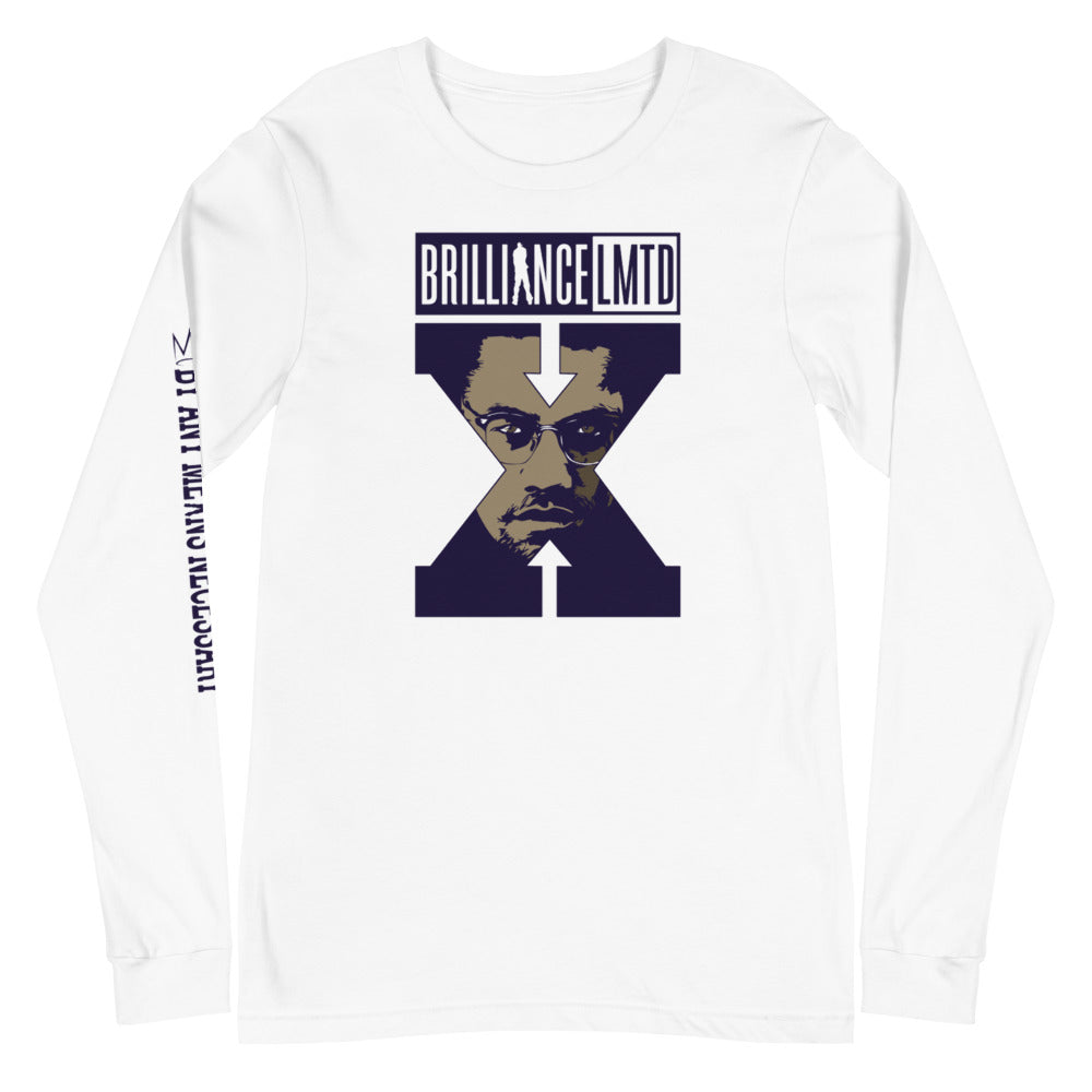 By Any Means (Malcolm X) tee blue print