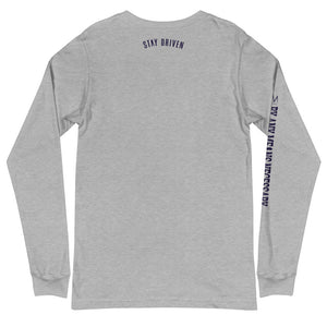 By Any Means tee (blue print) Long Sleeve Tee