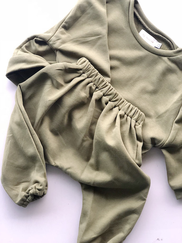 Olive // Terry Harem Pant