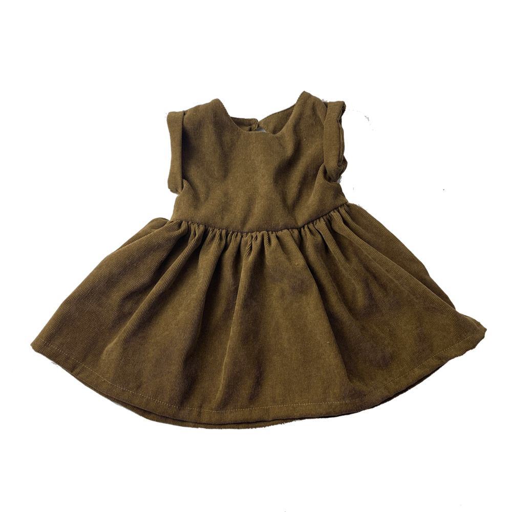 Brown // Cord Smock Dress